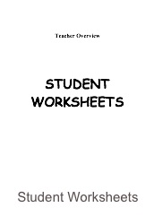 Grade 4 Student Worksheets