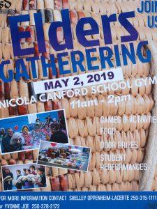 Elders Gathering-Cancelled @ Nicola Canford Elementary School