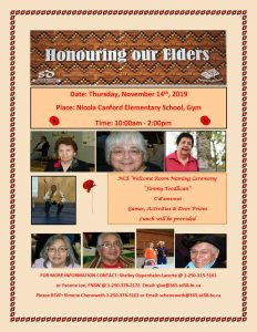 Honoring our Elders @ Nicola Canford Elementary