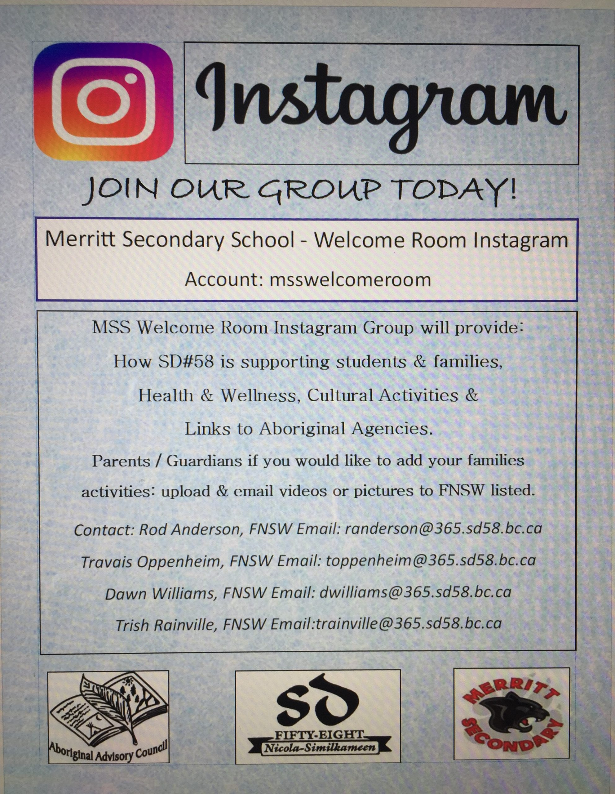 MSS Welcome Room Instagram